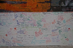 We signed the wall near the Memorial