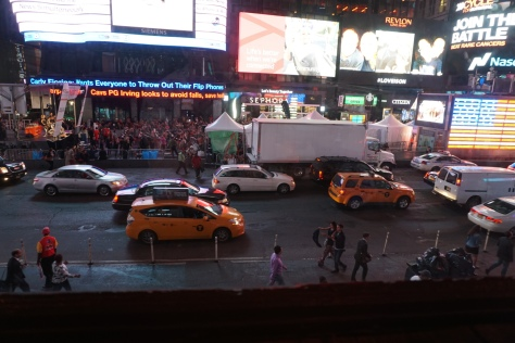 Times Square from Bubba Gumps