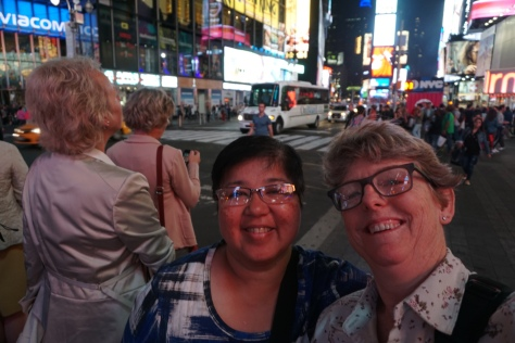 Our first time in Times Square!