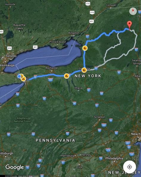 Niagara Falls to Lake Placid