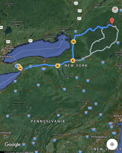 Niagara Falls to Lake Placid
