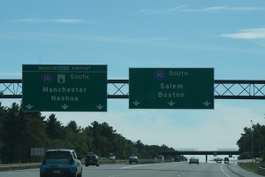 Saw these signs for Salem and Boston.