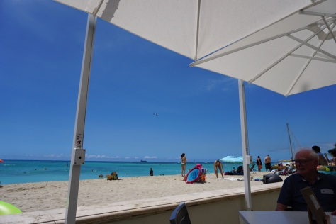 Beautiful day for beach watching