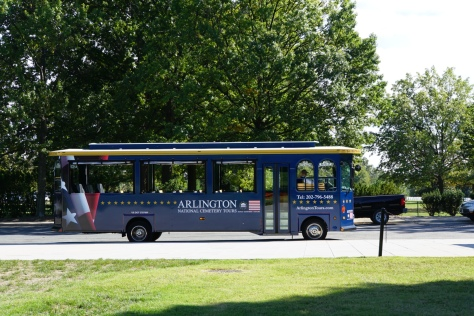 Arlington Tour Bus - not ours but it shows the size of the vehicle.