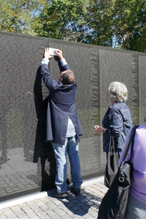 Vietnam War Memorial - rubbing