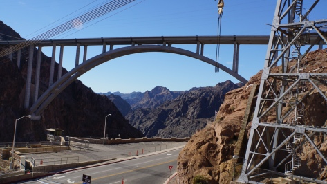 Highway bridge of Hoover Dam