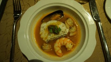 Pan roasted cod fish